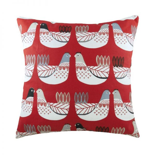 Cluck Click cushion in red