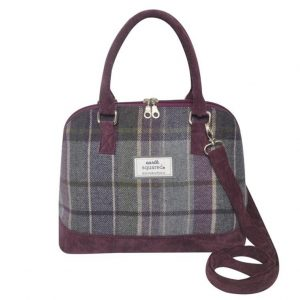 Tweed Bowling Bag in Purple Quartz
