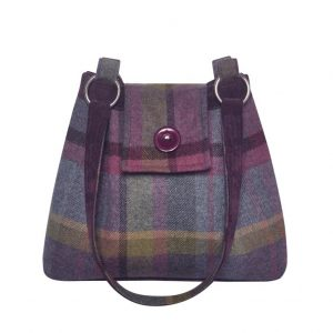 Tweed AVA bag in Thistle