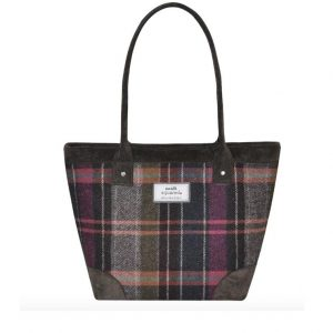 Tweed Tote Bag - Pewter