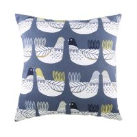 Cluck Cluck Cushion in Blue