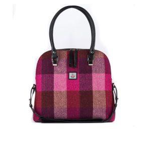 Harris Tweed Bowling bag in pink squares