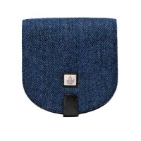 Blue Tweed Harris Tweed Cross Body Bag