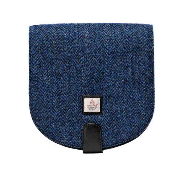 Blue Tweed Harris Tweed Cross Body Bag