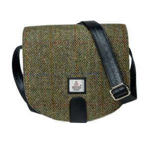 Harris Tweed Cross Body bag in Country green