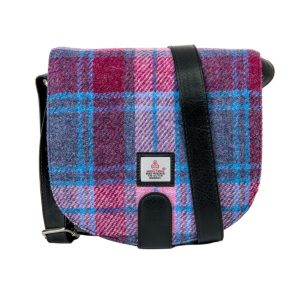 Harris tweed Cross Body Bag - Pink Pastels