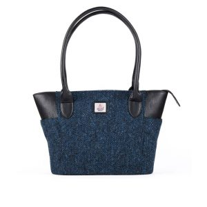 Harris Tweed Blue Tweed Tote Bag