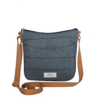 Steel Blue Heritage Tweed Bag